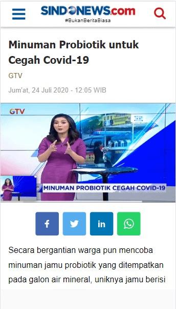 GTV Probiotik Covid19